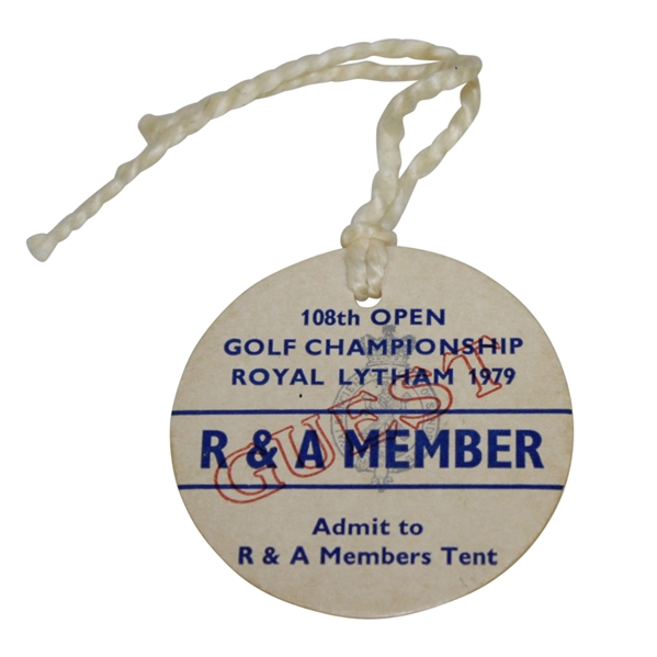 1979 Open Championship at Royal Lytham R&A Member Ticket #1399 - Seve Winner - Deane Beman Collection