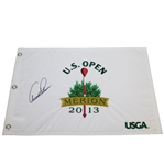 Arnold Palmer Signed 2013 US Open at Merion CC Embroidered Flag - Matted JSA ALOA