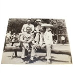 Bobby Jones, Ben Hogan, Byron Nelson, and Jimmy Demaret Black and White Matted Photo