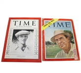 Two Time Magazines - 1932 Vines Jr Cover and 1954 Sam Snead Cover