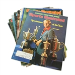 Jack Nicklaus Cover Sports Illustrated Magazines - 19 Assorted