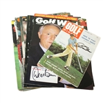 Sixteen Signed Golf Themed Magazines - Player, Trevino, & More JSA ALOA