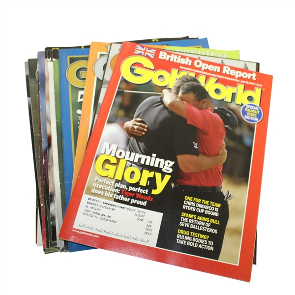 Tiger Woods Cover GolfWorld Magazines - 17 Assorted