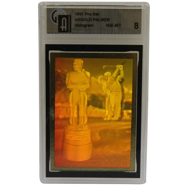 Arnold Palmer 1991 Pro Set Award Collectible Hologram Card - Slabbed Grade NM-MT 8