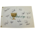 USA Team Signed Presidents Cup Flag with Arnold Palmer Captain - 1996 JSA ALOA