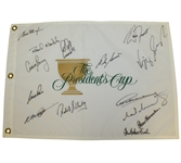 International Team Signed Presidents Cup Flag with Peter Thomson Captain - 1996 JSA ALOA