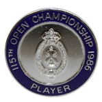 1986 Open Championship at Turnberry Contestant Badge - Greg Norman Winner