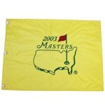 2003 Masters Embroidered Flag - Mike Weir Winner