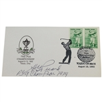 H.G. Picard Signed 1993 PGA Cachet with PGA Champ from 1939 Notation JSA ALOA