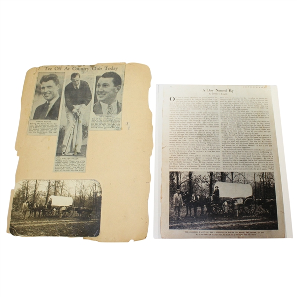 Ky Laffoon Original Postcard with Article Used In Golf Illustrated