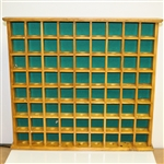 Wood Golf Ball Display - Will Hold 72 Golf Balls/Items