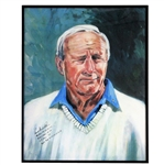 Arnold Palmers Finest Known Autograph w/Full Name & Wins On Oversize Print Framed JSA ALOA