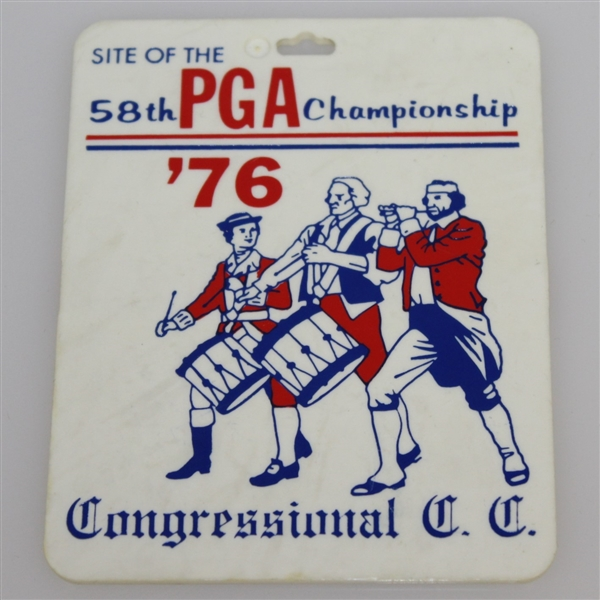 Deane Beman's 1976 PGA Championship at Congressional Golf Club Bag Tag