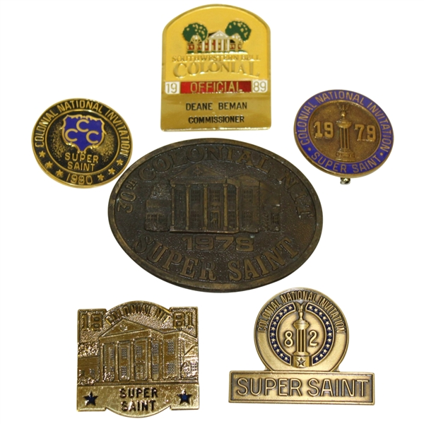 Deane Beman's Six Colonial Badges - Various Years