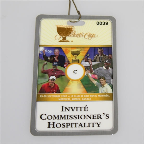 Deane Beman's 2007 The President's Cup Invite Commissioner's Hospitality Badge