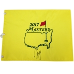 Sergio Garcia Signed 2017 Masters Embroidered Flag JSA ALOA