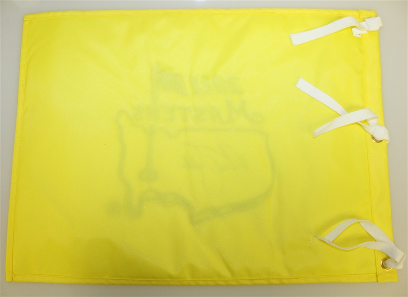 Nick Faldo Signed 2011 Masters Embroidered Flag JSA ALOA