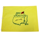 Jim Nantz CBS Lead Masters Broadcaster Signed 2011 Masters Embroidered Flag JSA ALOA