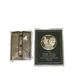 The Suppressed Tiger Woods Eyewitness Commemorative Sterling Silver Medal with Box & Stand