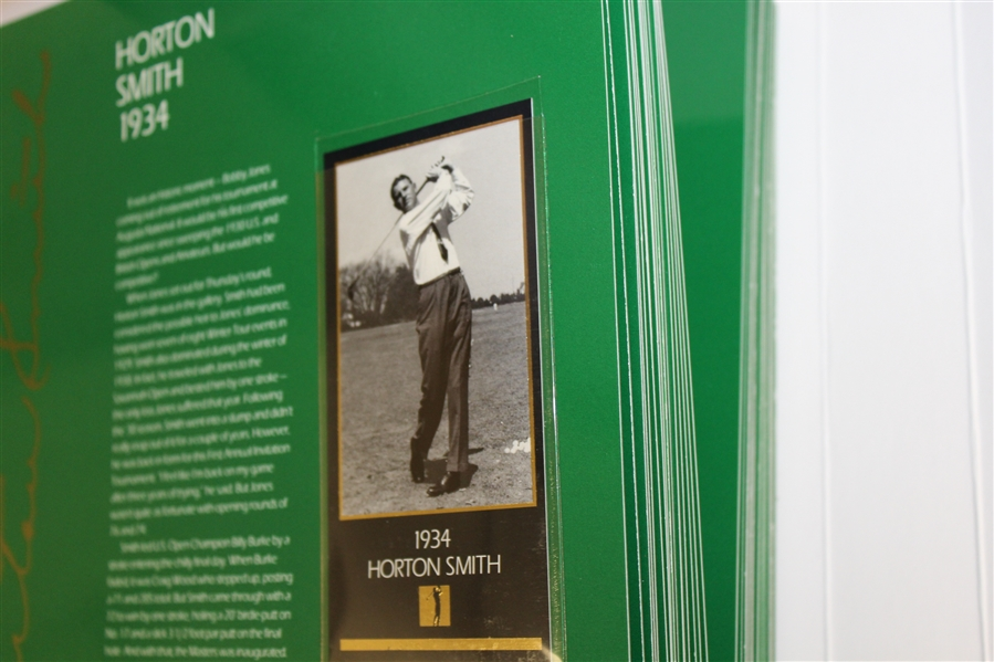 1998 Grand Slam Ventures The Masters Collection Golf Foil Green Binder Set with Tiger Slabbed Card
