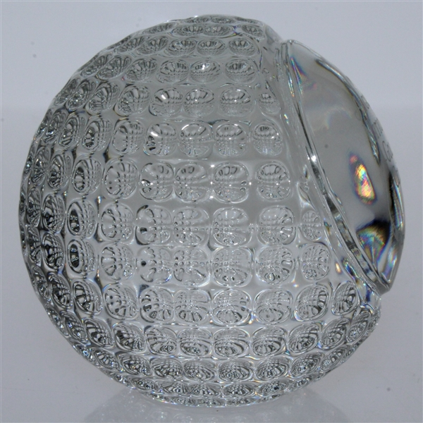 Augusta National Golf Club Tiffany and Co. Undated Crystal Golf Ball in Original Tiffany Box