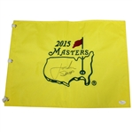 Jordan Spieth Signed 2015 Masters Embroidered Flag - FULL Signature JSA #Z63272
