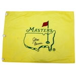 Jack Burke Signed Undated Masters Embroidered Flag PSA/DNA #AD04589