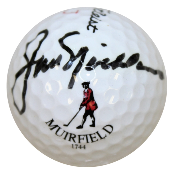 Jack Nicklaus Signed Muirfield Logo Golf Ball JSA ALOA