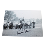 Arnold Palmer Signed 1962 Masters Tournament Black and White Photo JSA ALOA
