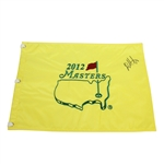 Bubba Watson Signed 2012 Masters Tournament Embroidered Flag JSA ALOA