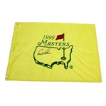 Arnold Palmer Signed 1999 Masters Tournament Embroidered Flag JSA ALOA