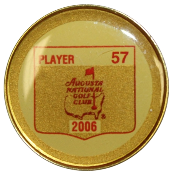 2006 Masters Tournament Players Badge #57 - Peter Lonard