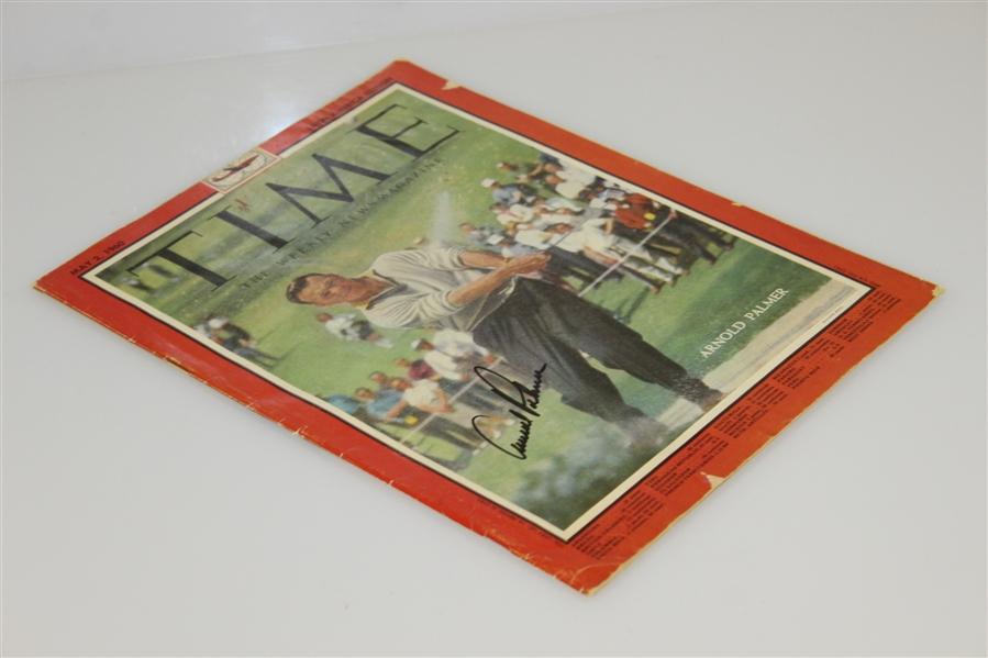 Arnold Palmer Signed May 2, 1960 TIME Magazine Latin America Edition - No Label JSA #T14236