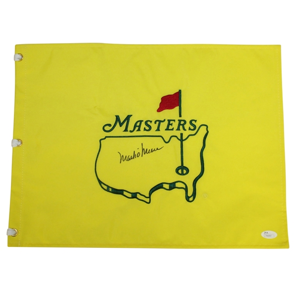 Mark O'Meara Signed Undated Masters Embroidered Flag JSA #T66097