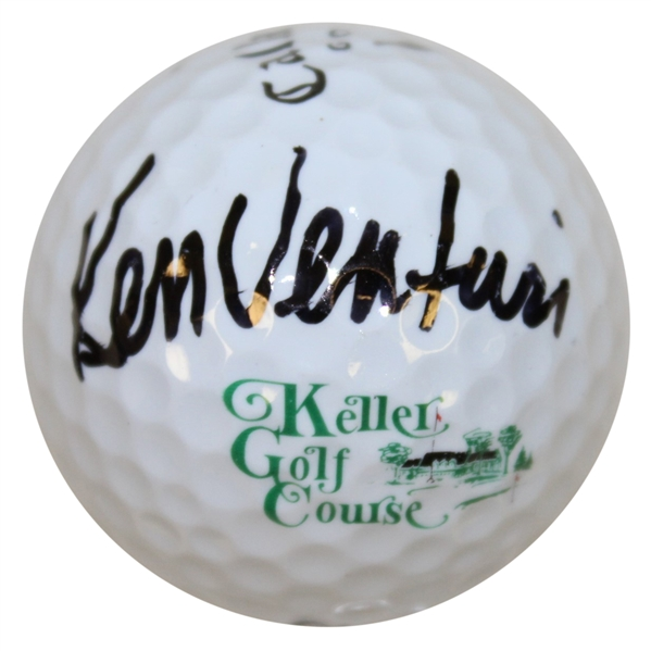Ken Venturi Signed Keller Golf Course Logo Golf Ball JSA ALOA