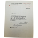 Ben Hogan Signed August 1, 1951 George May Contestant Pay Contract JSA ALOA