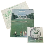 1962 US Open at Oakmont CC Program, Spectator Guide, & Scorecard