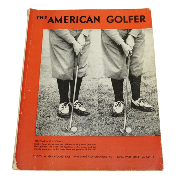 Bobby Jones on Cover June 1930 'The American Golfer' - Edited by Grantland Rice