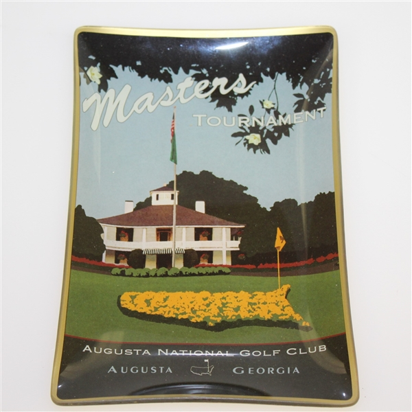 Augusta National Golf Club 'Masters' Clubhouse with Flag Depicted on Ceramic Candy Dish