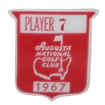 Deane Bemans 1967 Masters Tournament Contestant Badge #7 - Gay Brewer Winner