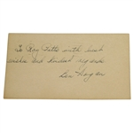 Ben Hogan 1948 Signed/Personalized G.P.C.- Valued Item in this Seldom Seen Format JSA ALOA