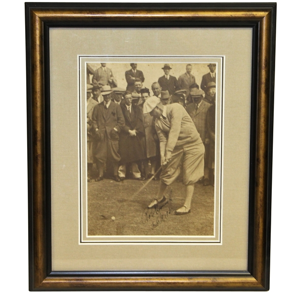 Robert T. Jones Jr. Vintage Signed & Dated 1931 Swing Photo - FULL JSA #Z69218