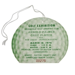 Arnold Palmer & Gary Player 1974 Golf Exhibition at Brookfield West CC Ticket #00275