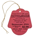 1930 US Amateur at Merion Ticket No. 2829 - Bobby Jones Historic Completion of Grand Slam!