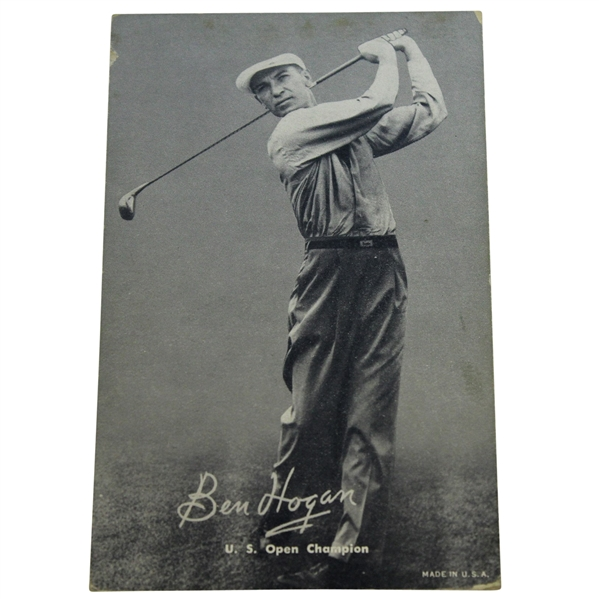 1948-49 Sports Exhibit Champions Ben Hogan Rookie Card - Front Notes '48 U.S. Open Win