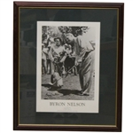Byron Nelson Signed Career Highlights & 1945 Season Recap Presentation - Framed JSA ALOA