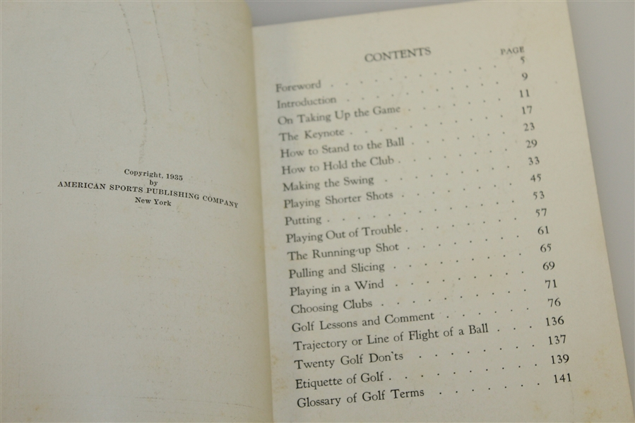 1935 'How I Play Golf' by Bobby Jones - Spalding Athletic Library