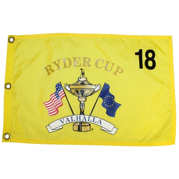 Ryder Cup Championship at Valhalla Yellow Screen Flag with Grommets