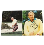 Two Arnold Palmer Signed 8x10 Color Photos - One Personalized JSA ALOA