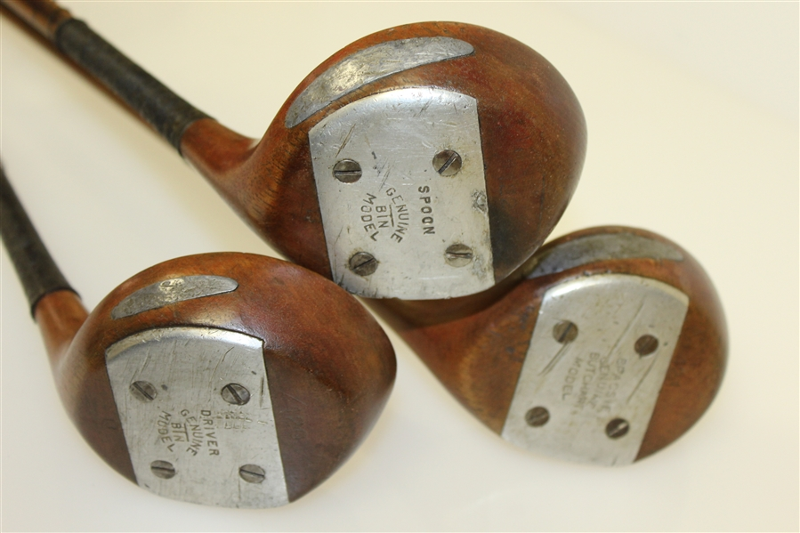 Three Butchart Woods - Philly Golfer Jimmy Dangelo - Hickory & Bamboo Split Shafts